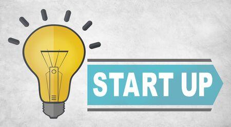 start up: start up idea concept Stock Photo