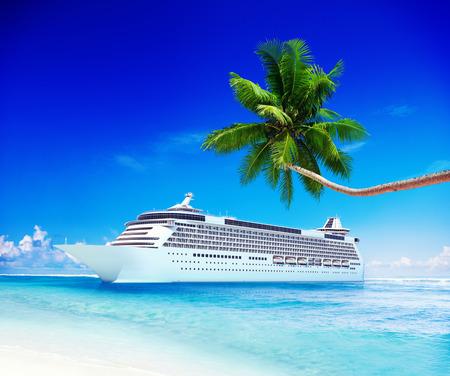 paysage marin: Cruise Ship Voyage Plage Seascape vacances Concept