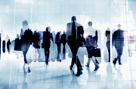 Business People Rush Hour Wandelen Commuting Stad Concept Stockfoto - 38521623