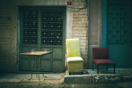 muebles antiguos: R�stico muebles antiguos Aire libre, Escena de tranquilidad Nadie