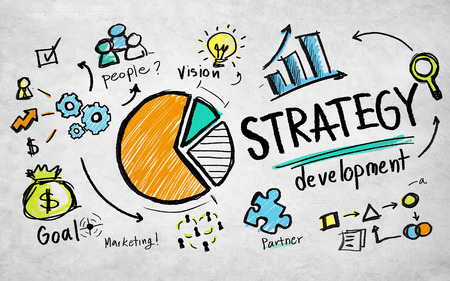 Strategy Development Goal Marketing Visie Planning Business Concept Stockfoto