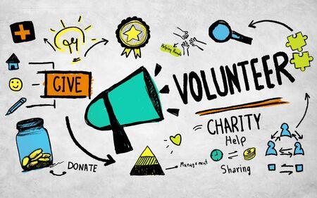 Vrijwilliger Liefdadigheids- en Reliefwerk Donatie Help Concept Stockfoto