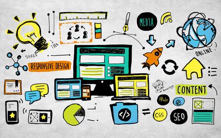 Responsive Design Content Technology Idee Creativiteit Concept