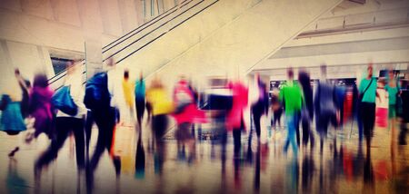 consumerism: People Consumer Shopping Commuter Consumerism Crowded Concept