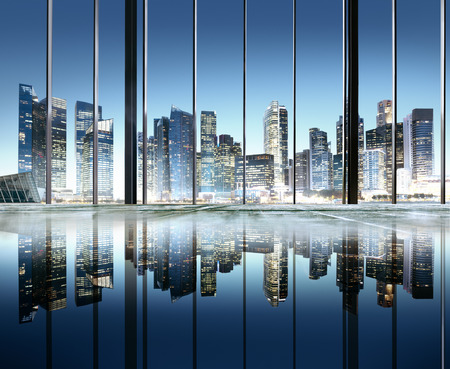 scenic view: City Lights Urban Scenic View Buildings Concept