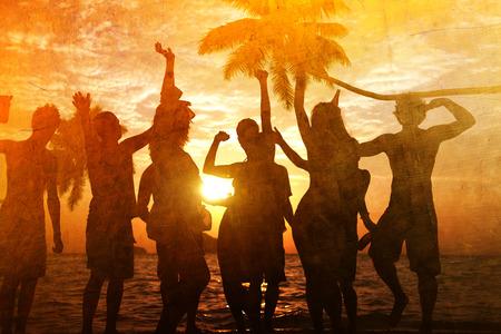 vacaciones en la playa: Celebraci�n Beach Party Summer Holiday Vacation Concept