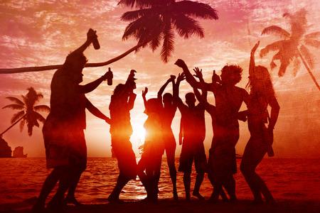 Mensen Viering Beach Party Summer Holiday vakantie concept