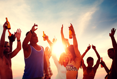 fiesta: Celebraci�n Beach Party Summer Holiday Vacation Concept