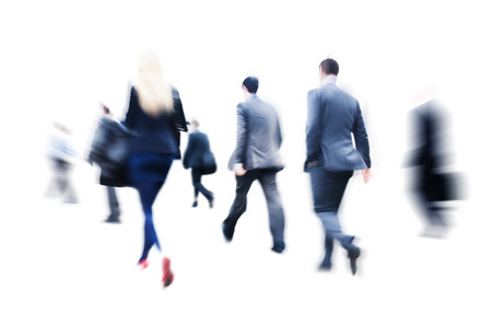 Business People Commuter Walking Rush Hour Corporate Concept Stock Photo