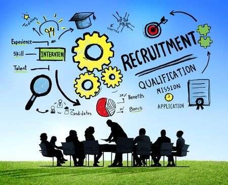 recruitment: Ethnicity Business People Recruitment Meeting Discussion Concept Stock Photo