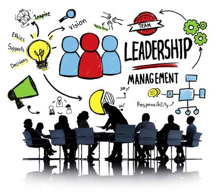 liderazgo: Gesti�n de Liderazgo Diversidad Gente de negocios Reuni�n de Discusi�n Concepto