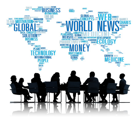 World News Globalization Advertising Event Media Infomation Concept photo