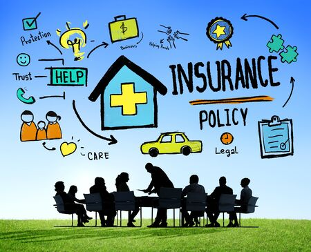 insurance policy: Diversity Business People Insurance Policy Conference Concept
