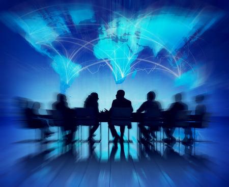 Zaken Mensen Meeting Seminar conferentie Partnership Samenwerking Concept