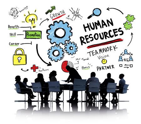 recursos humanos: Recursos Humanos Empleo Trabajo en equipo Negocios Reunión Concepto Foto de archivo