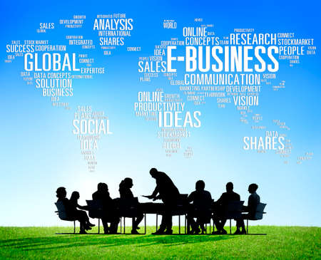 ebusiness: E-Business Global Business Commerce Online World Concept