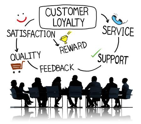 respeto: Satisfacción lealtad del cliente Apoyo Estrategia Concepto Foto de archivo