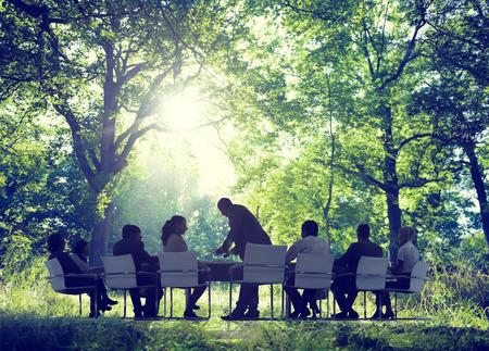 ビジネス人々 会議環境保全 写真素材