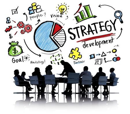 estrategia: Objetivo de Desarrollo de Estrategia de Marketing Visi�n Planificaci�n de Negocios Concepto