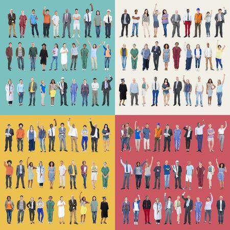 Jobs People Diversity Work Multiethnic Group Concept photo