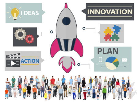 New Business Innovation Strategy Technology Ideas Concept photo