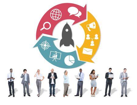 asian man laptop: Innovation Start Up Success Growth Concept
