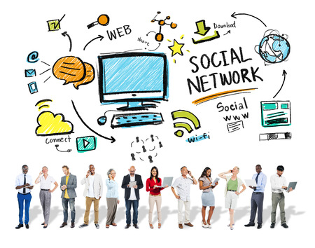 Social Network Social Media Business People Technology Concept photo