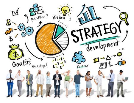 business goals: Strategy Development Goal Marketing Vision Planning Business Concept