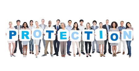 Protection Business People Team Teamwork Success Strategy Concept Stock fotó - 38968105