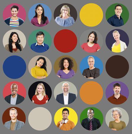 rosto humano: Pessoas Diversidade multi-�tnico Face Humana Conceito Grupo Banco de Imagens