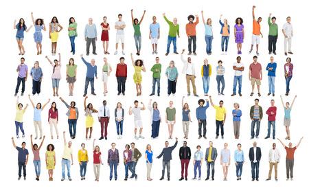 menschenmenge: Menschen Verschiedenartigkeit Erfolg Feiern Gl�cklichsein Gemeinschaft Crowd-Konzept