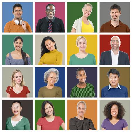 rosto humano: Pessoas Diversidade Faces humano Retrato Rosto Comunidade Conceito
