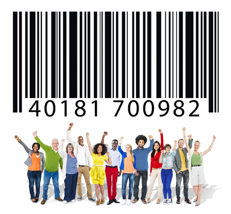 Bar code d'identité marketing Data Encryption Concept