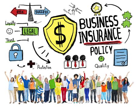 People Celebration Safety Risk Business Insurance Concept photo