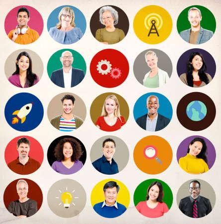 wireless technology: Diversity People Global Communication Wireless Technology Concept