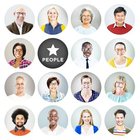 visage femme profil: Portrait de gens et les gens Diverse texte