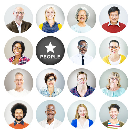 profil: Portret różnych ludzi, a ludzie Tekst Zdjęcie Seryjne