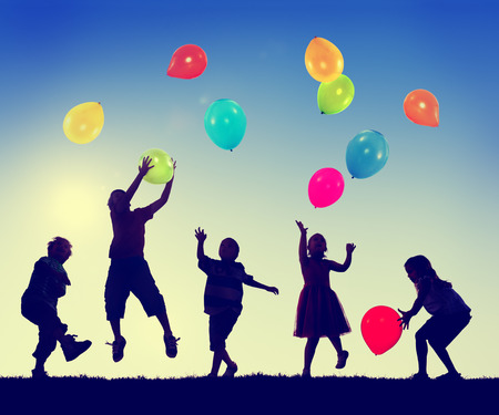 Group of Children Freedom Happiness Imagination Innocence Concept photo