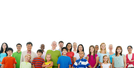 medium group of people: Large Crowd of Community  People Unity Support Concept Stock Photo