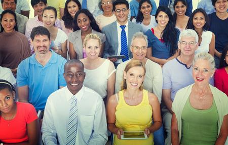 grupo de personas: Grupo Informal Diverse Convención Social Personas Audiencia Concepto Foto de archivo