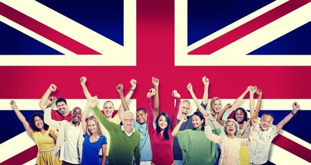 hapiness: Diversity of British Community People Hapiness Concept
