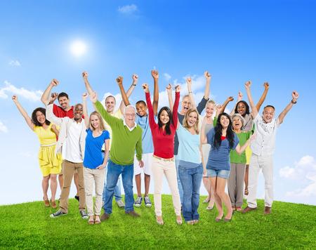 多様な多様性民族民族バリエーション統一連帯コンセプト
