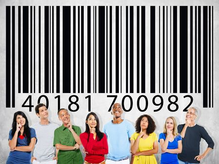 encryption: Bar Code Identity Marketing Data Encryption Concept