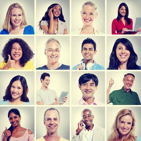 multiple ethnicity: The Positivity Stock Photo