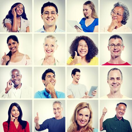 community: Multi Ethnic People Community Communication Concept Stock Photo