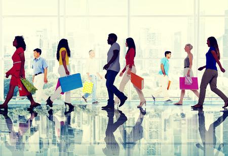 Winkelen Aankoop Detailhandel Klant Consument Verkoop Concept