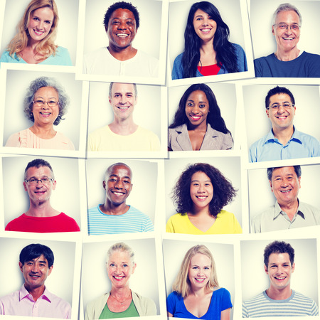 social gathering: Protrait of Group Diversity People Community Happiness Concept Stock Photo