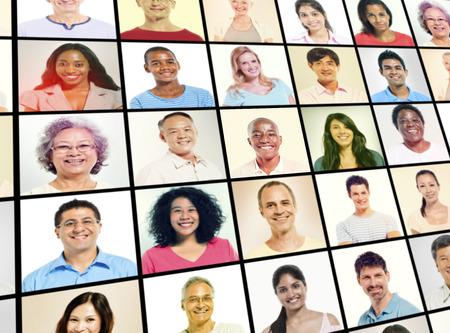 organized group: Diverse Diversity Ethnic Ethnicity Team Teamwork Unity Concept