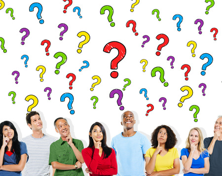 immagination: Group of People Asking Questions Information Concept Stock Photo
