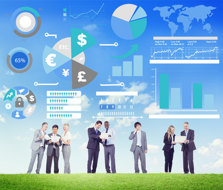 financial team: Finance Financial Business Economy Exchange Accounting Banking Concept Stock Photo